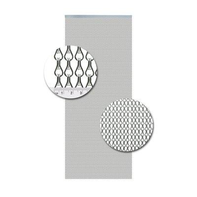 Kettenvorhang Aluminium Silber