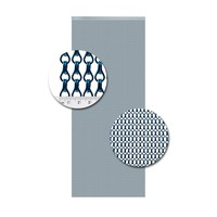 Insektenschutzdirekt.de Kettenvorhang Aluminium Blau