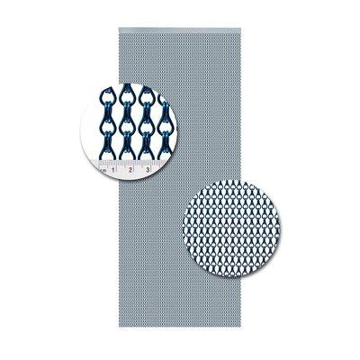 Kettenvorhang Aluminium Blau