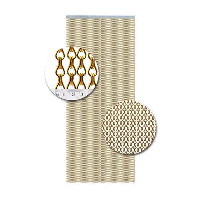 Kettenvorhang Aluminium Gold