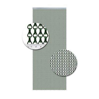 Kettenvorhang Aluminium Grün