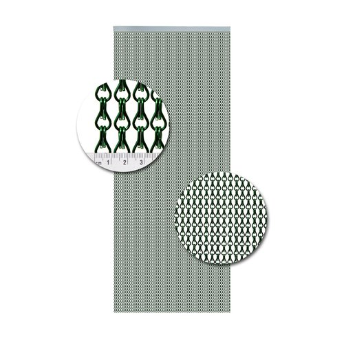 Insektenschutzdirekt.de Kettenvorhang Aluminium Grün