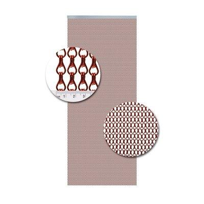 Kettenvorhang Aluminium Rot