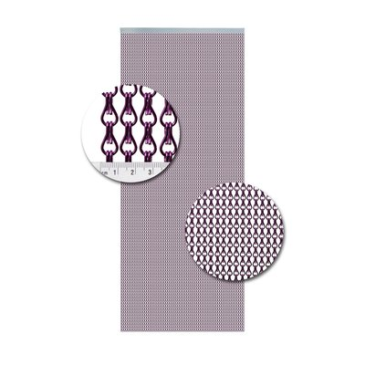 Kettenvorhang Aluminium Purper