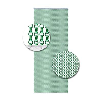 Kettenvorhang Aluminium Hellgrün