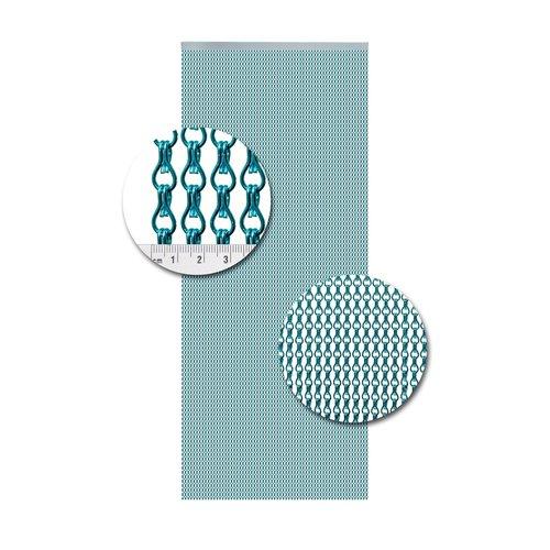 Insektenschutzdirekt.de Kettenvorhang Aluminium Hellblau