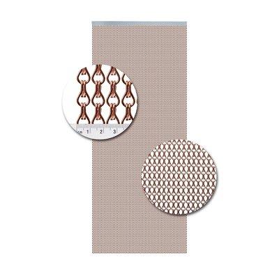 Kettenvorhang Aluminium Kupfer