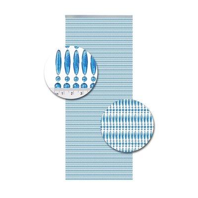 Perlenvorhang Blau Senkrecht
