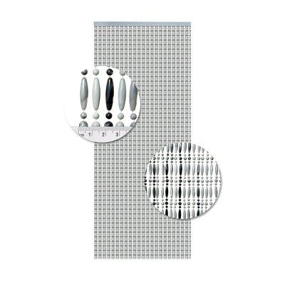 Perlenvorhang Grau Geflammt Senkrecht