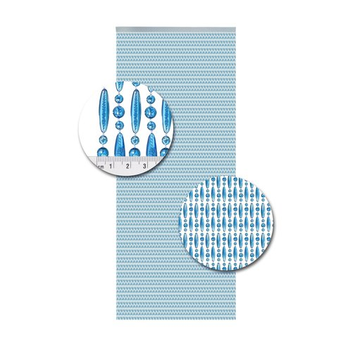 Insektenschutzdirekt.de Perlenvorhang Blau Versetzt