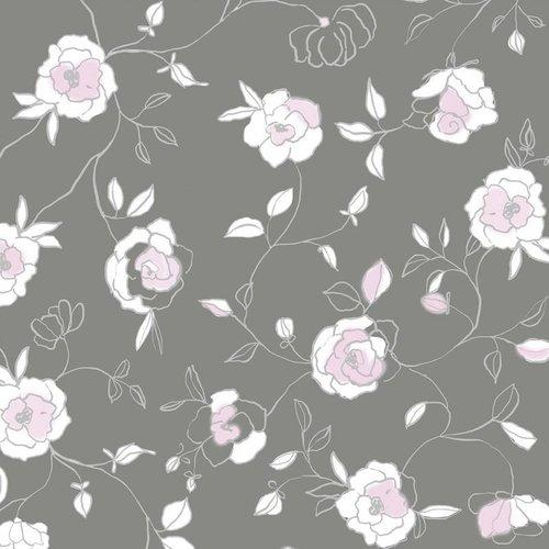 Wachstuch Rosen Rosa Minze