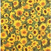 Wachstuch Sonnenblumen