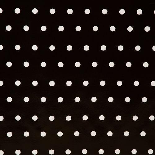 Wachstuch Punkte Schwarz Weiß