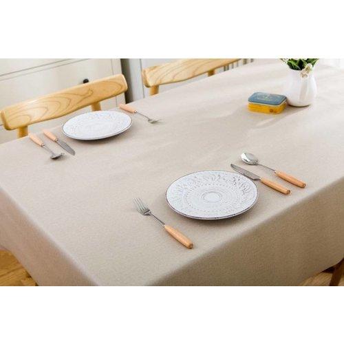 Tischdecke abwaschbar Beige Uni