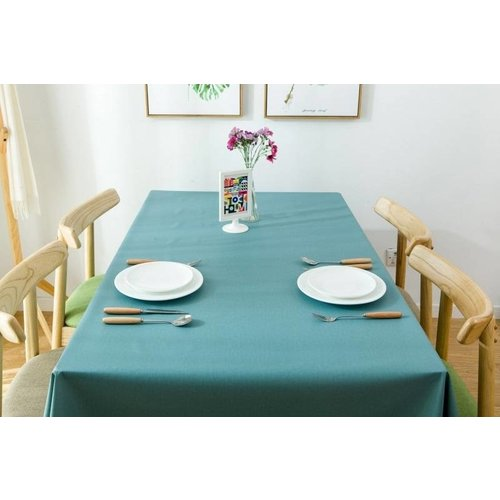 Tischdecke abwaschbar Grün Uni