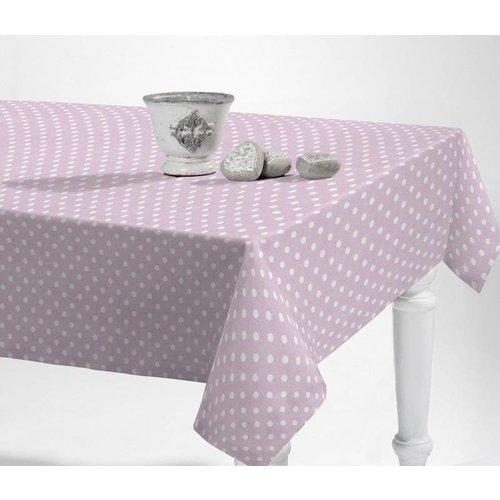 Tischdecke abwaschbar Punkte Rosa