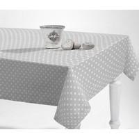Tischdecke abwaschbar Punkte Grau