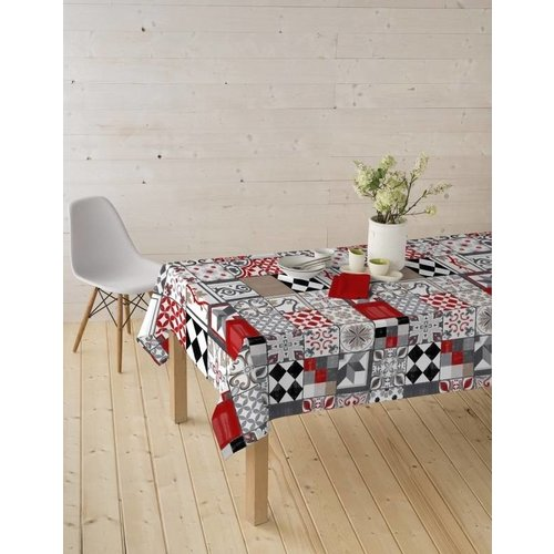 Tischdecke abwaschbar Piatto Rot