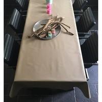 Tischdecke Abwaschbar Beige Uni 160CM