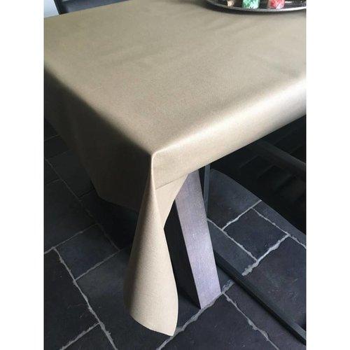 Tischdecke Abwaschbar Beige Uni 140CM