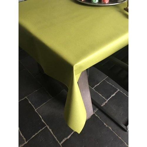 Tischdecke Abwaschbar Pistacho Grün Uni 160CM