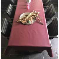 Tischdecke Abwaschbar Vino Violett Uni 160CM