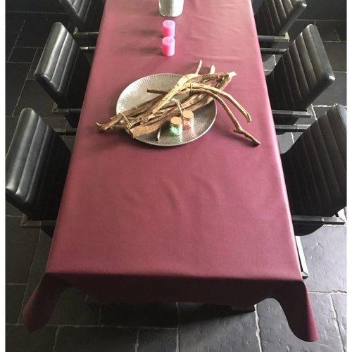 Tischdecke Abwaschbar Vino Violett Uni 180CM