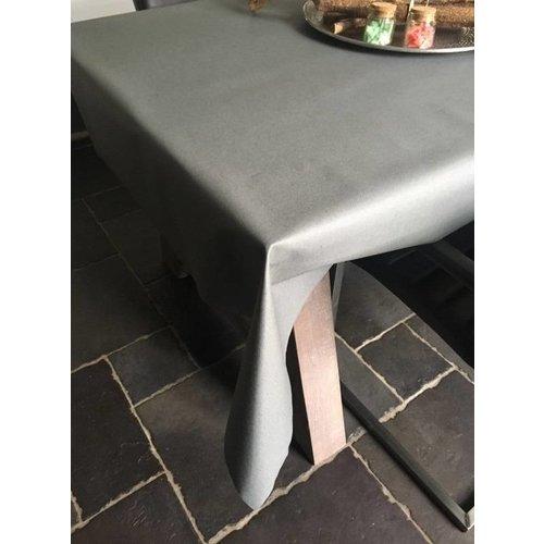 Tischdecke Abwaschbar Piedra Grau Uni 160CM