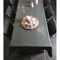 Tischdecke Abwaschbar Pizarra Anthrazit Uni 160CM