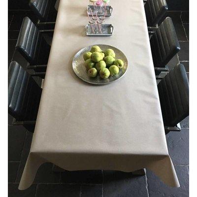 Tischdecke Abwaschbar Maly Beige Uni 160CM