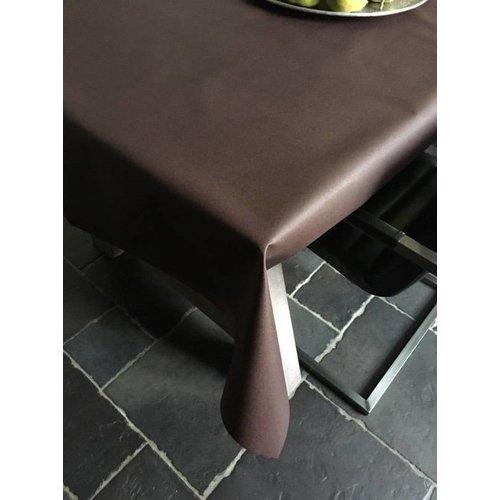 Tischdecke Abwaschbar Maly Choco Braun Uni 140CM