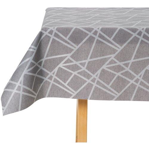 Tischdecke Abwaschbar Lines Grau