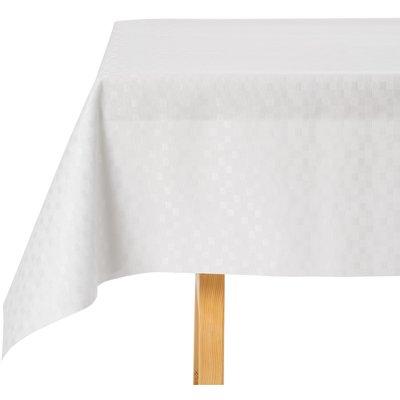 Tischdecke Abwaschbar Kariert Weiß