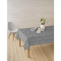 Tischdecke abwaschbar Wolle Taupe