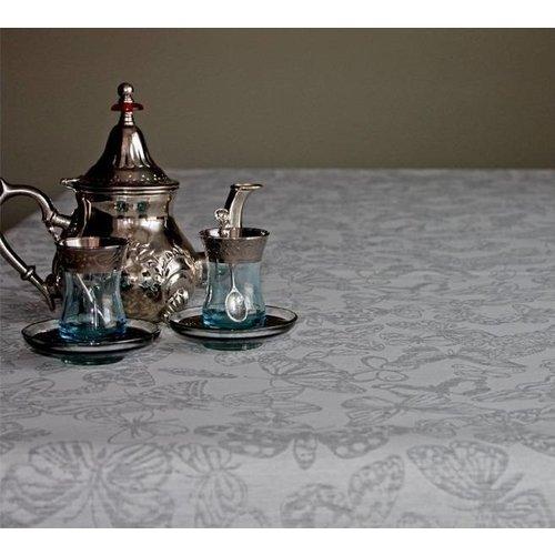 Tischdecke abwaschbar Arles Schmetterling Grau