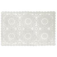 Tischset PVC Spitzen Weiß