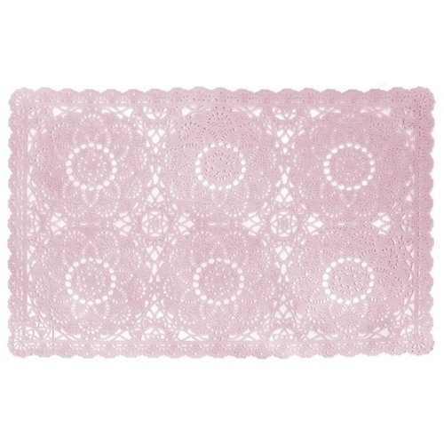 Tischset PVC Spitzen Rosa