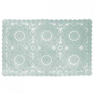 Tischset PVC Spitzen Blau