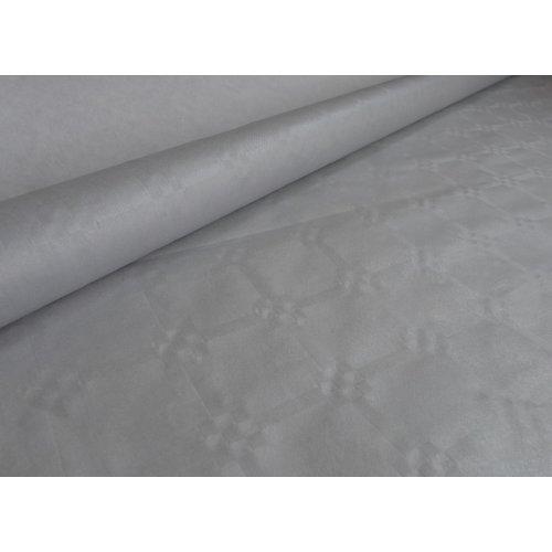 Papiertischdecken Damast Silber - 10 Meter