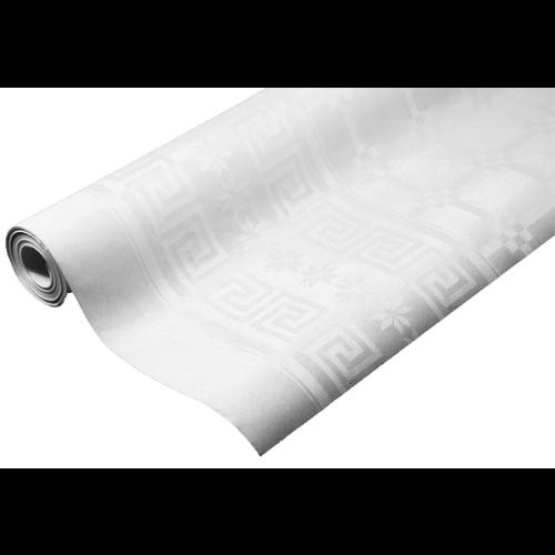 Papiertischdecken Damast Weiß - 8 Meter