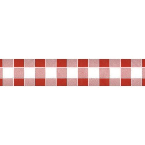 Papiertischdecken Damast Karriert Rot - 10 Meter