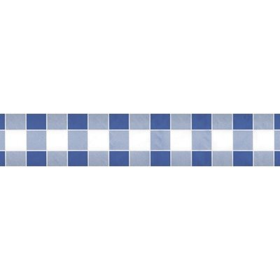 Papiertischdecken Damast Karriert Blau - 10 Meter