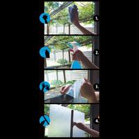 Fensterfolie Statisch 3D Geprägt 45CM Breit - Runden