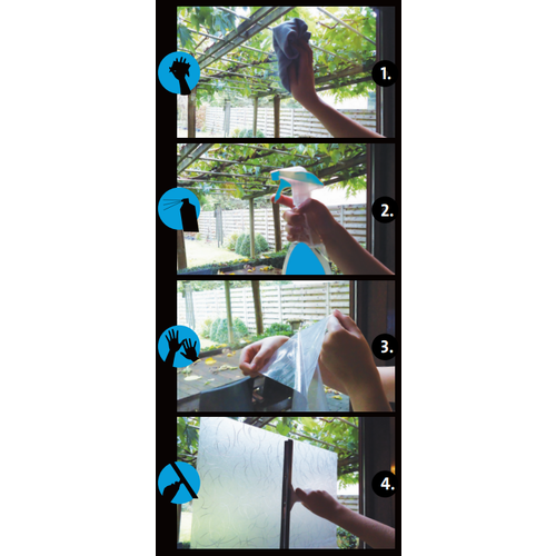 Fensterfolie Statisch 3D Geprägt 45CM Breit - Blöcke