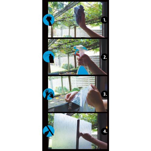 Fensterfolie Statisch 3D Geprägt 90CM Breit - Riffel