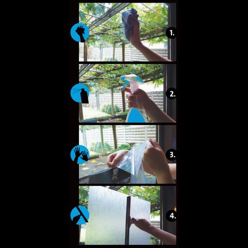 Fensterfolie Statisch 3D Geprägt 90CM Breit - Runden