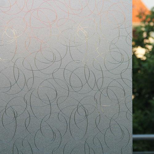 Fensterfolie Statisch 3D Geprägt 90CM Breit - Leonardo