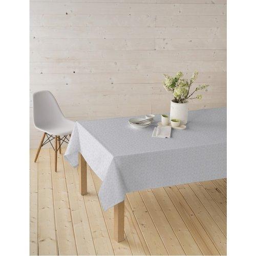 Beschichtete Tischedecke Damast Weiß