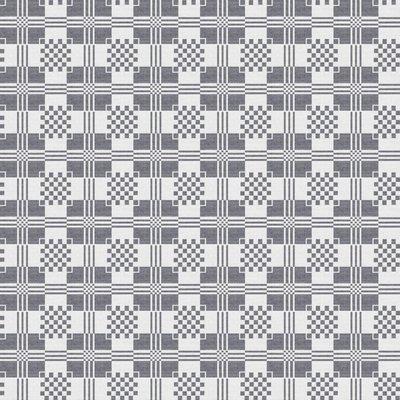 Beschichtete Tischedecke Damast Grau
