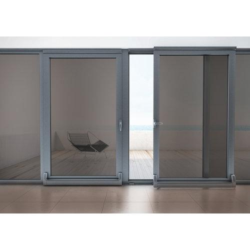 LineaFix Fensterfolie Statisch Sandstrahl Grau- 92CM breit